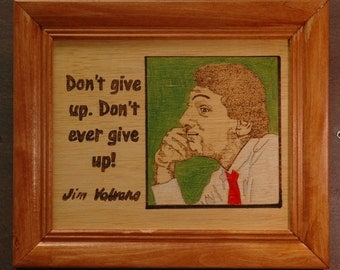 Jim Valvano - portrait and quote