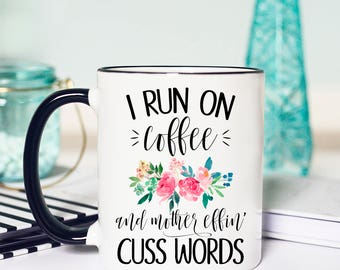 Coffee and Curse Words Mug, Funny coffee curse words mug, Coffee and Curse Words, Coffee and cuss words mug, Mug Coffee and Curse words