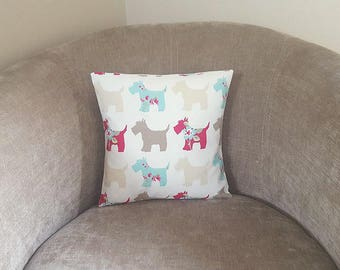 Scottie Dog Cushion COVER~Scottie Dog Pillow Case~Dog Cushion Cover~Scottish Terrier Cushion~Dog Lovers Gift~Sofa Cushion~Throw Pillow