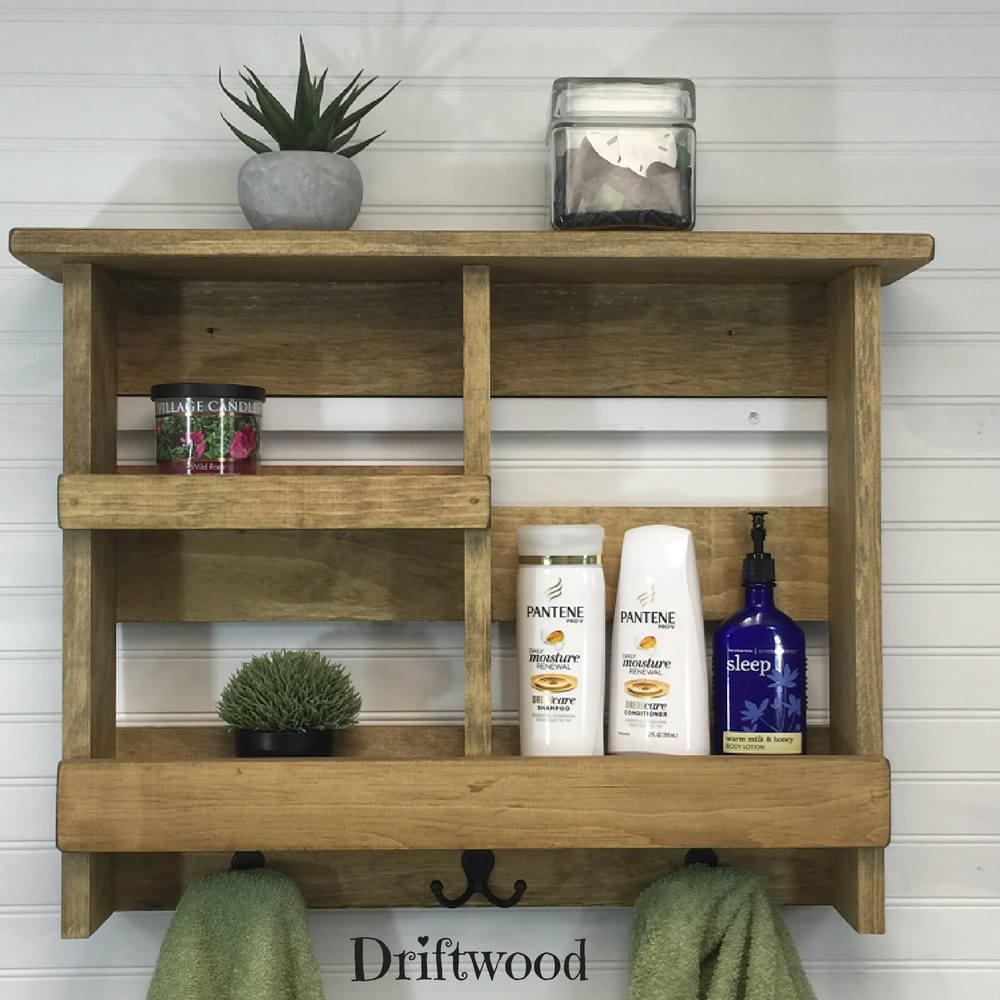 Wooden Shelves For Bathroom: Rustic Bathroom Shelf