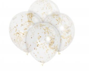 Gold Confetti Party Balloon. Silver confetti. Birthday Balloons. Wedding Party Balloon.Party Decorations.Latex Balloon. Air. Helium Birthday