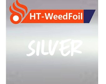 HT WeedFoil Heat Transfer Vinyl - Iron On - HTV - Silver Foil