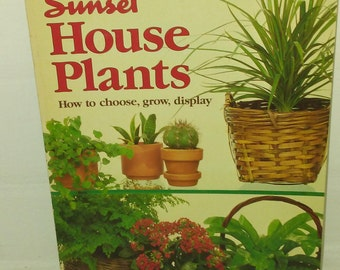 Vintage Sunset House Plants book published in 1983