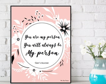Love poster, Love quote, Grey's Anatomy poster, Grey's Anatomy quote, Poster quote, Wall decor, Typography quote, Positive quote wall