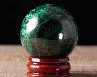 40mm MALACHITE Sphere -  Malachite Crystal, Malachite Stone, Polished Malachite, Green Crystal Ball, Crystal Sphere, Malachite Ball 36744