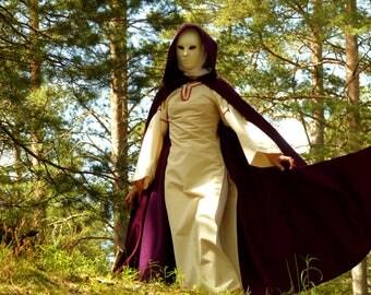 Fantasy cloak - Medieval cloak - Hooded velour cape