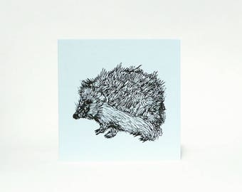 Hedgehog Greetings Card / Nature Lover Card / Invitation Card / Thank You Card / Note card for Friend / Birthday Card For Family
