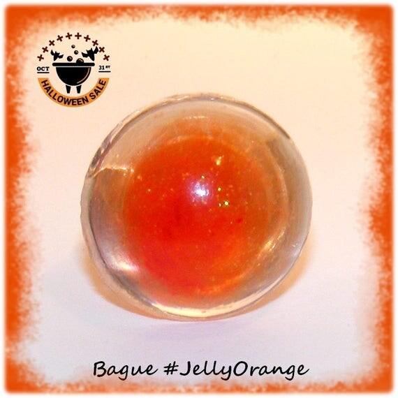 Bague Résine [Jelly Orange]
