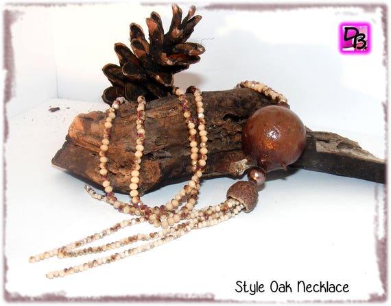 Sautoir pompon [Style Oak]