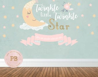 Digital Twinkle Twinkle Little Star Backdrop, Twinkle Little Star Birthday Backdrop, Twinkle Little Star Baby Shower Backdrop,