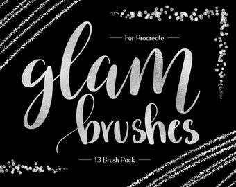Foil & Glitter Procreate Brushes, Custom Made, Foil Textures, Sparkly, Luxury Texture, iPad Pro, Procreate Brush, Instant Download,