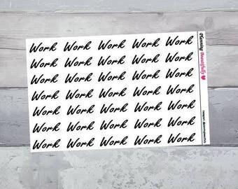 work stickers, work planner stickers, work script stickers, work schedule planner stickers, erin condren planner stickers, stickers