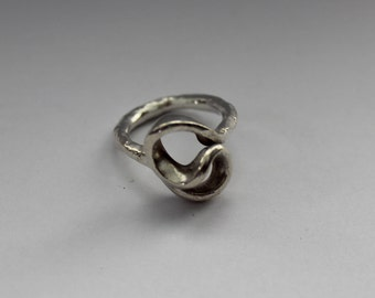 Hammered Silver Swirl Ring