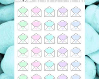Happy Mail - Envelope Planner Stickers - also available in Kawaii