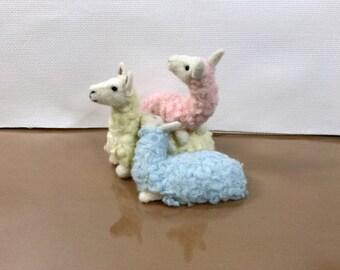 Stacking llama worms- needlefelted llama, soft sculpture, needlefelt animal
