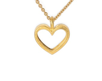 precious gift for baptism, christening echtgoldene, chain with a lot of heart