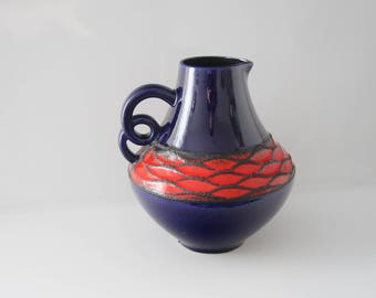 Great vase by Fohr 410-25 - Fat Lava West German Pottery WGP