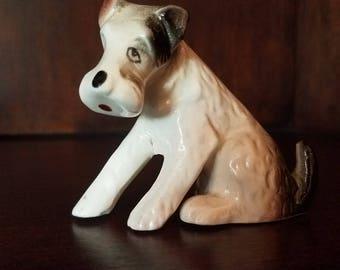 Wire Hair Fox Terrier Porcelain Figurine