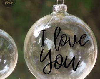 Personalized glass ball ornament | Etsy