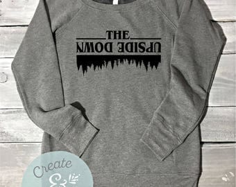 The Upside Down Sweatshirt, Stranger Things Sweater, Off Shoulder