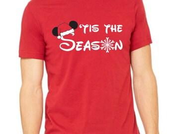 Disney Shirt Disney Christmas Shirt Disneyland Shirt Disney World Shirt Magic Kingdom Shirt  Tis the Season  Mickey Christmas Shirt