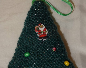 Hand Knitted Christmas Tree decorastions