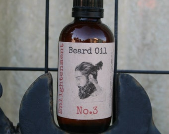 Beard Oil 2oz - Handmade - Jojoba and Grapeseed Oil, Rosemary, Clove, Patchouli and Frankincense Essential Oils