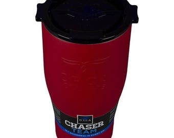 Personalized Orca Coolers Chaser 27oz, Stainless Steel, Red with Black Lid