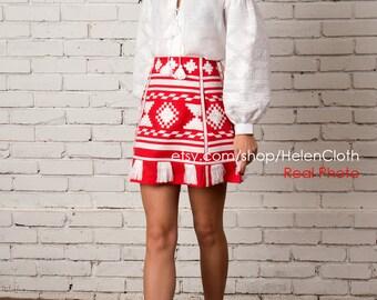 Ukrainian Embroidery Vyshyvanka Skirt and Blouse Custom Boho Vyshyvanka Vishivanka Bohemian Style Ukrainian Blouse Custom Boho Skirt Ukraine