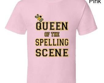 Queen Of The Spelling Scene Spelling Bee tshirt,spelling bee contest,school spelling bee,school tests tshirt,school exams,college exams,