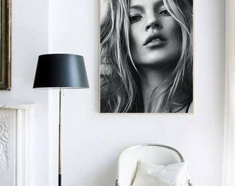Kate Moss portrait. Model photography. Kate Moss photography. Fashion photography. Instant download