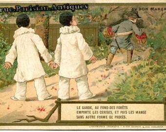 """Advertising chromo """"Le Bon Marché"""" Paris"""