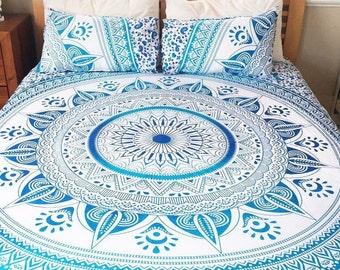 Mandala Tapestry, Mandala bedspread, Boho wall tapestry, Bohemian beach throw, Picnic blanket, Beach blanket, Boho dorm room, Hippie decor