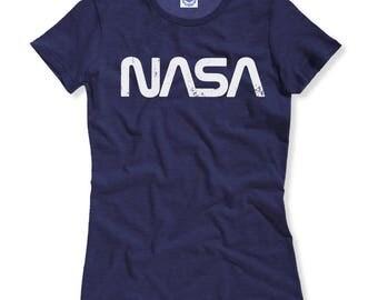 NASA Retro Worm Logo Women's Tee