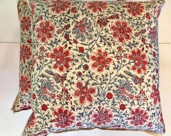 Ralph Lauren Floral Batik Pillows (Pair)