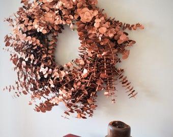 Bronze Eucalyptus Wreath | Christmas Wreath | Holiday Wreath | Christmas Door Decorations | Wreaths for Christmas | Wreaths for the Holidays