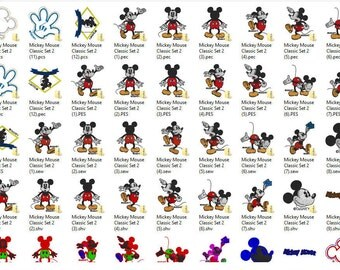 Disney's Classic Mickey Mouse Embroidery Design Set 2