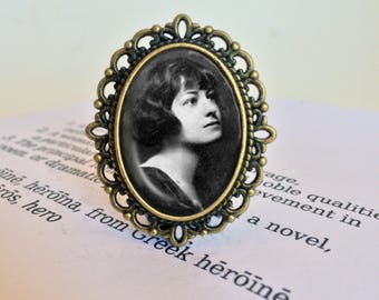 Dorothy Parker  Brooch - Dorothy Parker Jewelry, Feminist Brooch, Literary Gift, Dorothy Parker Feminist Pin, Vintage Feminist Jewellery