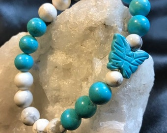 Butterfly Calms the Soul Gemstone Bracelet