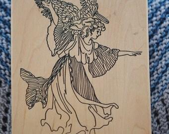Dancing Angel  Rubber Stamp  #80063  Stamps Happen, Inc.  Vintage