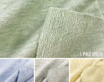 100% Cotton Melange French Terry Knit Fabric (Wholesale Price Available By the Bolt) USA Made Premium Quality - 6013CYD 1 Yard