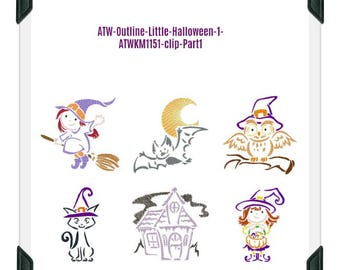 Outline-Little-Halloween-1 ( 6 Machine Embroidery Designs from ATW ) XYZ17I