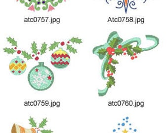 Christmas-Ornament ( 10 Machine Embroidery Designs from ATW ) XYZ17K