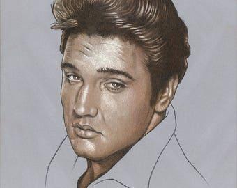 Elvis Presley Portrait - Original Art