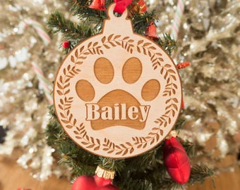 Personalized Dog Christmas Ornament - Personalized Gift - Pet Gift - Personalized Pet Ornaments - Pet Christmas Ornaments - Dog Ornament