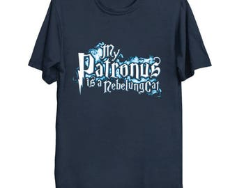 My PATRONUS Is A NEBELUNG CAT Custom T-Shirt Magic Animal Charm Fantastic Beasts Wizard Spell Fantasy Shirt