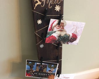 Rustic Card/Photo Holder