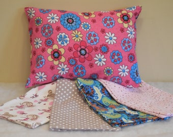 Travel Pillowcase-Flannel Pillowcase-Travel Flannel Pillowcase- 12x16 Travel Pillowcase