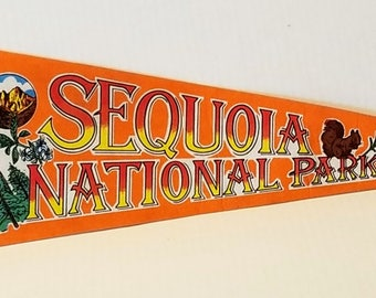 Sequoia National Park - Vintage Pennant