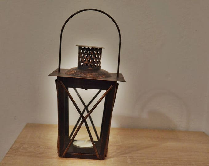 10%OFF Rustic home decor / Bronze lantern / Rustic lantern / Lanterns / wedding lantern / weddings lanterns / lantern centerpiece